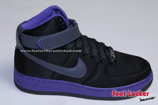 Nike Air Force 1 High Black/Varsity Purple for Ladies – Foot ...