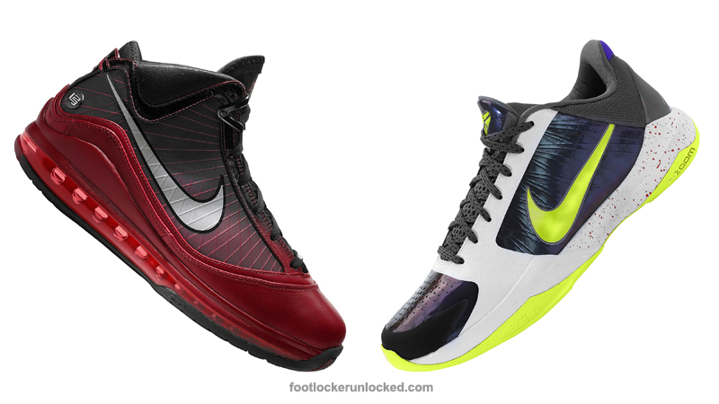 """on sale d089e 8a17d King James  Air Max LeBron VIIs are a festive black and red gradient with  green accents. lebron-vii-christmas. The Black Mamba s Zoom Kobe V """" ..."""