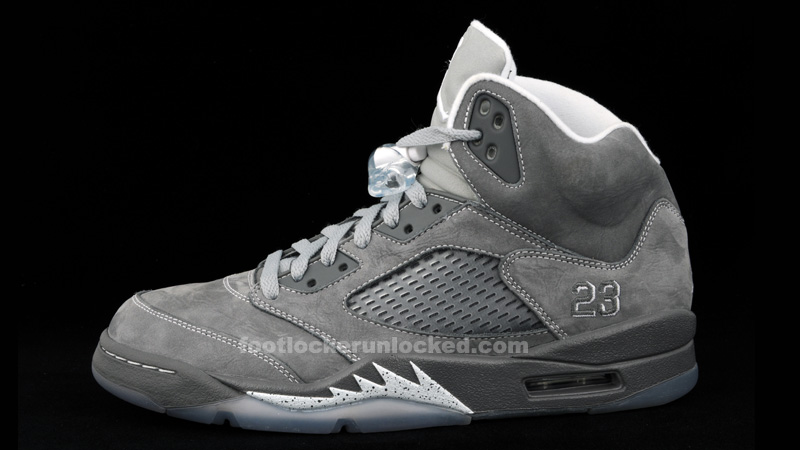 air jordan 5 v retro wolf grey