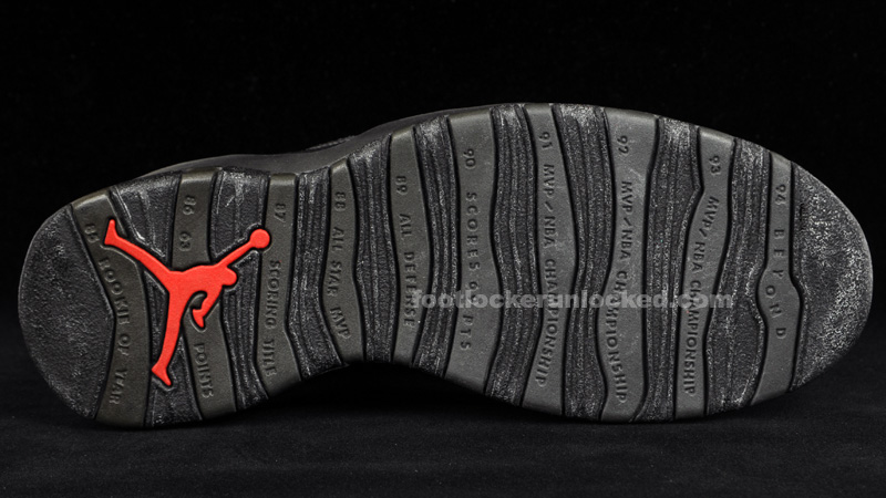 93c6da41799f43 The Sample Closet  Air Jordan X Black Dark Shadow True Red – Foot ...