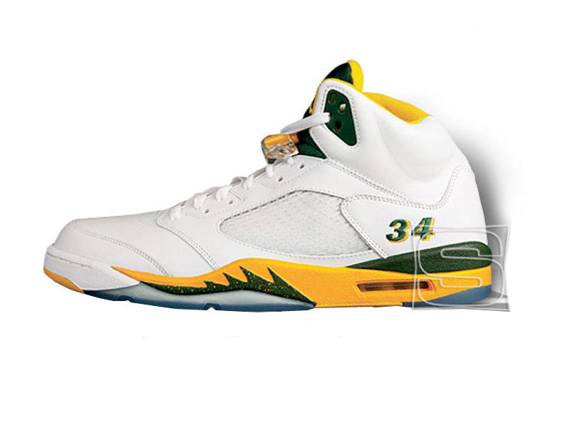Key Moment: Ray sets an NBA record of three-point field goals made in a  regular season with 269. He wears the AIR JORDAN XX throughout the 2005-06  season ...