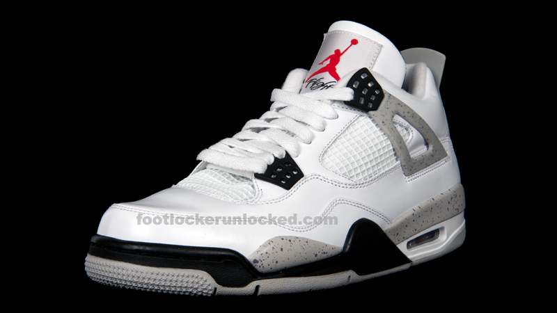 air jordan 4 retro white cement footlocker application