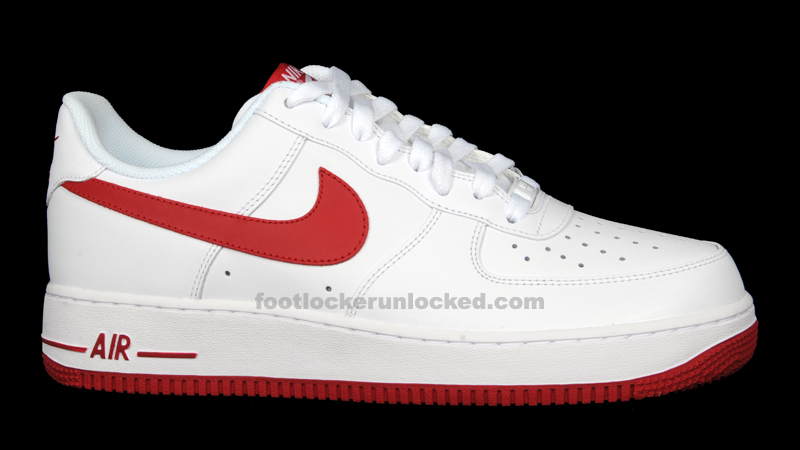 nike air force 1 white gym red