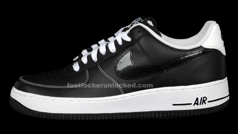 Nike Air Force 1 Bas Smoking En Daim Noir Et Blanc