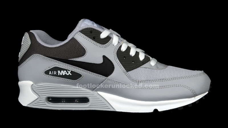 black and gray air max