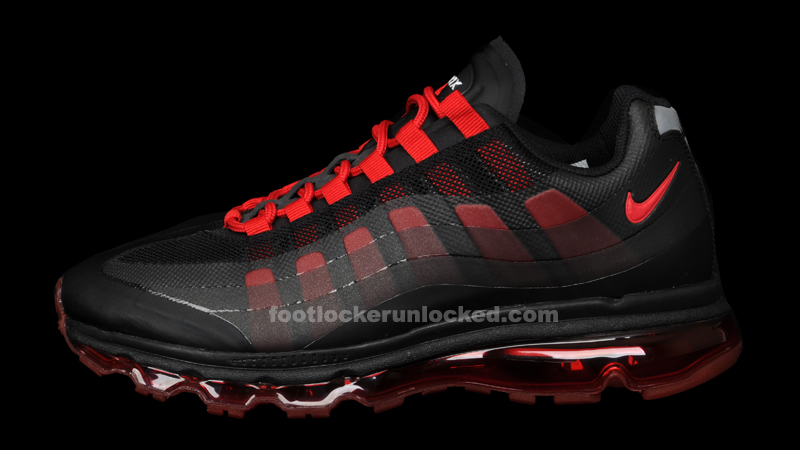 nike air max 95 360 black/anthracite/white/sport red