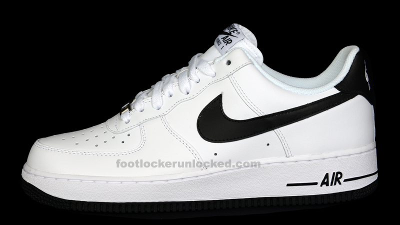 nike air force black white