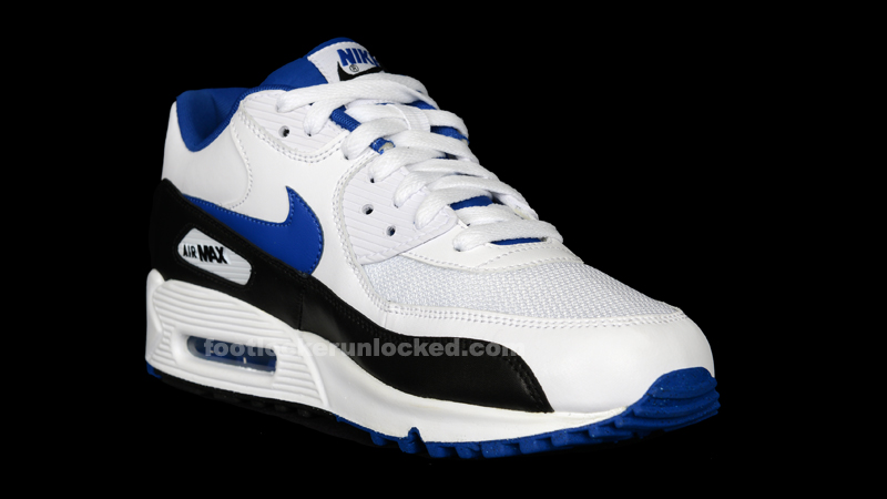 air max 90 white and blue