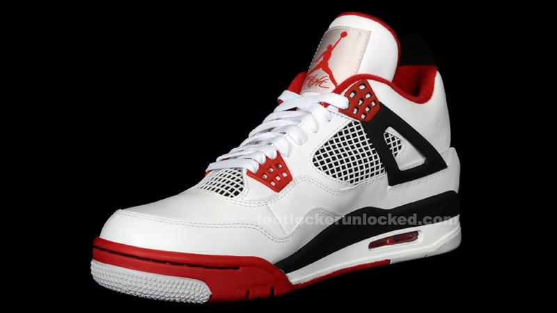 pas cher tumblr best-seller en ligne Air Jordan Retro 4 Feu Casier Rouge Pied SAST à vendre achat HJi9EN8Xt2