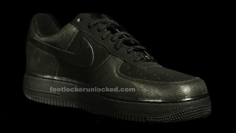 air force one black suede
