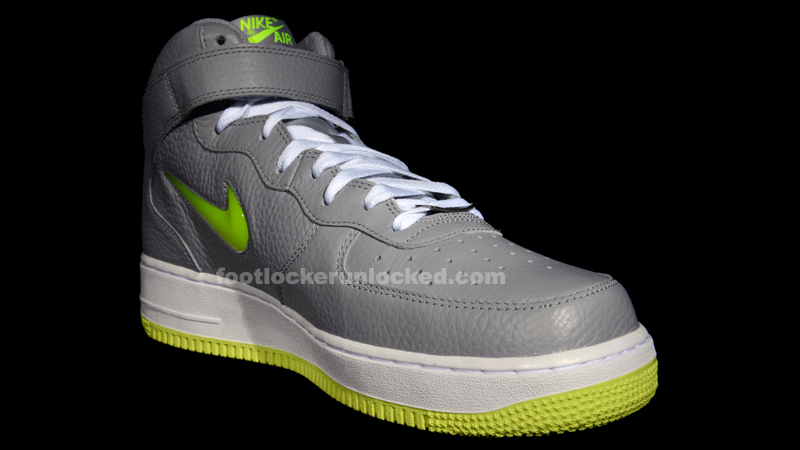 nike air force 1 mid wolf grey\/white-volt
