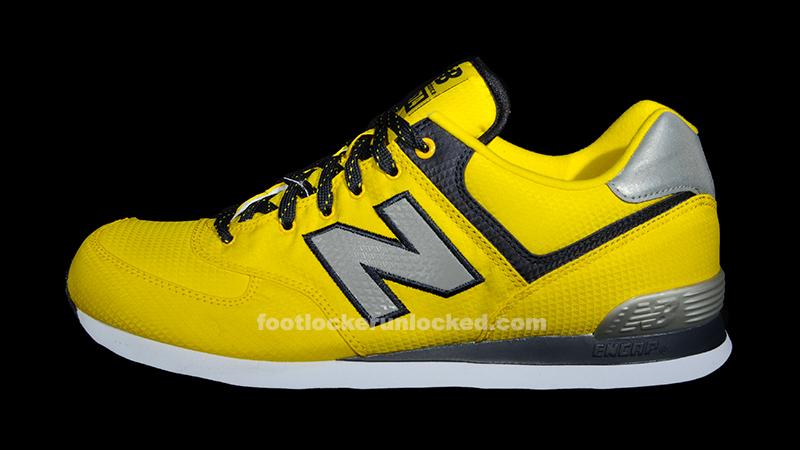 new balance 574 reflective yellow