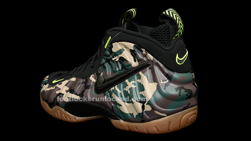 """33c0715bc16 Nike Air Foamposite Pro """"Army Camo"""" Release Details – Foot Locker Blog"""