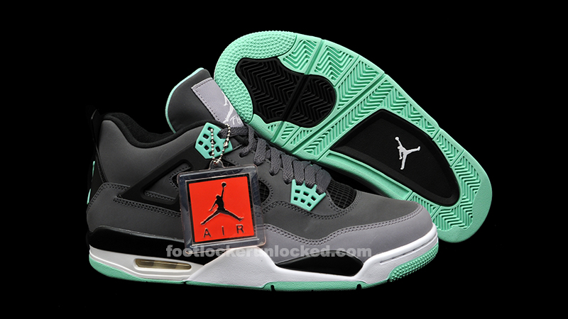 air jordan 4 retro green glow for sale