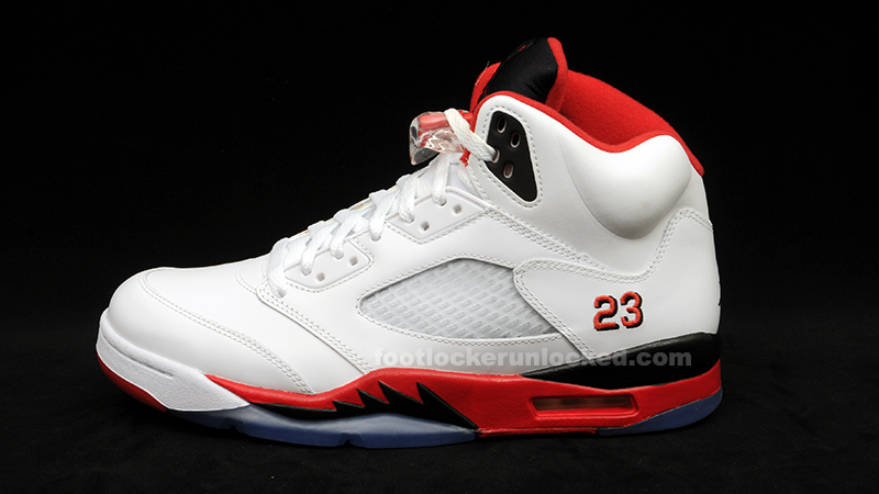 air jordan 5 retro white\/fire red-black 2013 ncaa