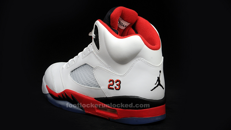 air jordan retro 5 fire red foot locker