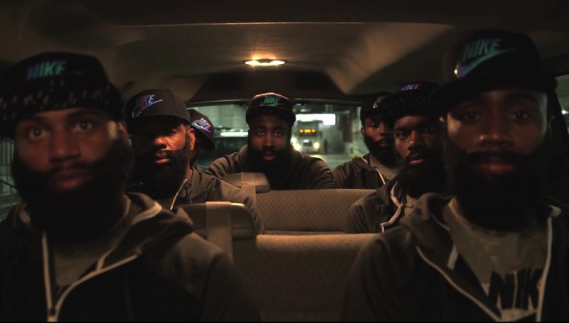 "5fed485c9222 Video) James Harden and ""The Beards"" Go Shopping at Foot Locker ..."