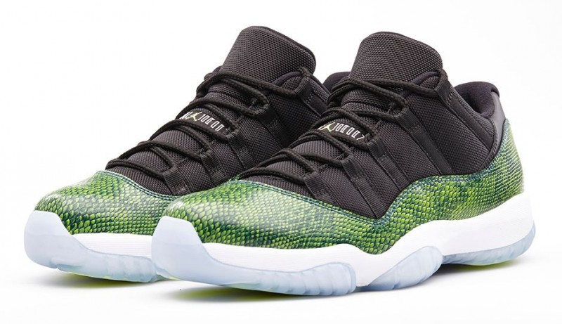 nike air jordan 11 xi retro low green snakeskin nightshade berries