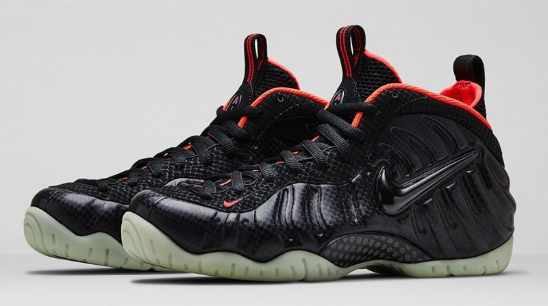 Nike Air Foamposite Pro Bright Crimson Metallic Silver Shoes