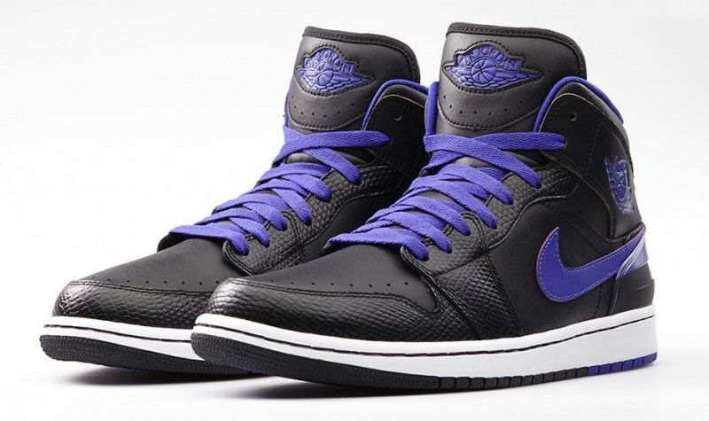 Men's Nike Air Jordan 1 Retro 86 Black Dark Concord Sneakers : E95h2775