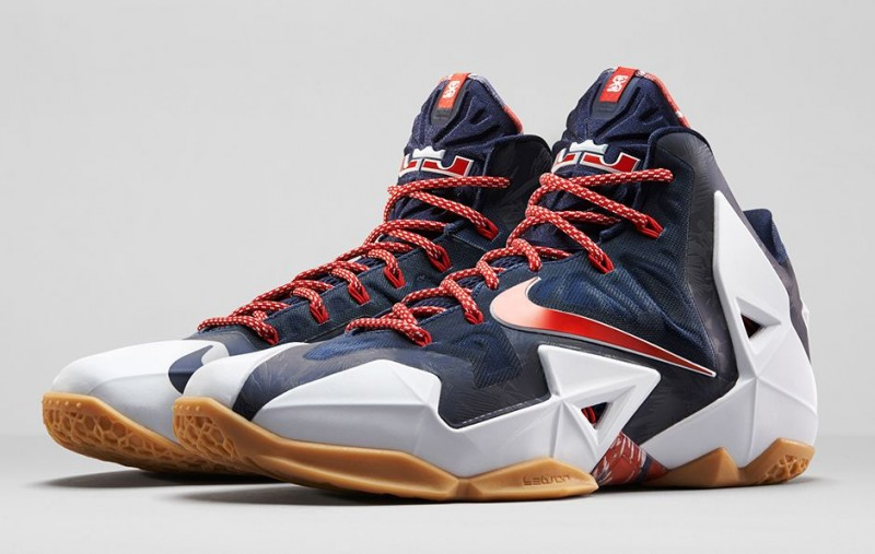 Lebron 11 independence day on feet