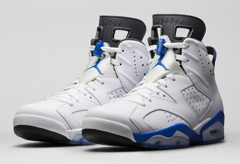 Air Jordan 6 Casier Sport Rétro Pied Bleu