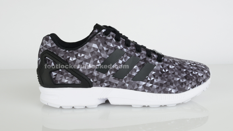 Adidas ZX Flux Clonix Sneakers in Grey & Chalk White Glue Store