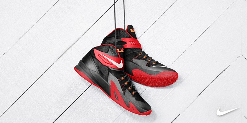 Nike LeBron Zoom Soldier 8 'Black/Red'. October 2nd - Posted By Teddy 'Roo.  32653_FA14_NikeBB_TeamHoops_Social_Twitter_Lebron_4