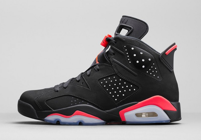 Air Jordan 6 Du Casier De Pied Infrarouge Noir