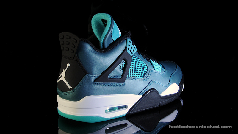 air jordan retro 4 teal footlocker