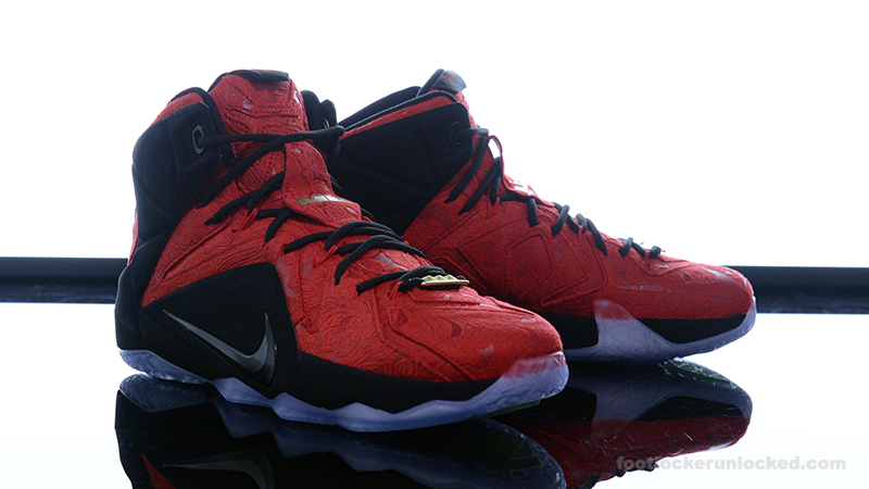 timeless design 1c3c9 9ca60 Foot-Locker-Nike-LeBron-12-EXT-Red-Paisley-