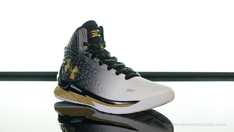 Running Shoes Under Armour Curry 2 Boots White Blue and Yellow (3