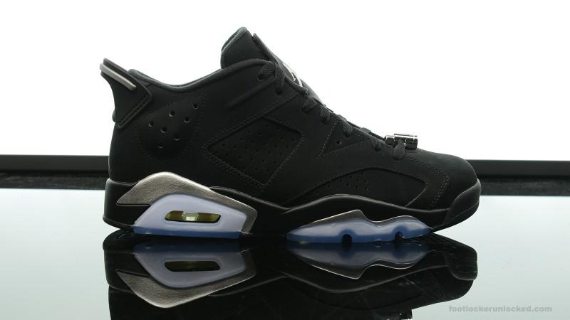 Air Jordan Retro 6 Casier Bas Des Pieds De Chrome