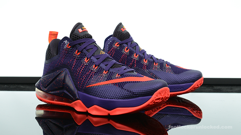 nike lebron 12 yellow purple