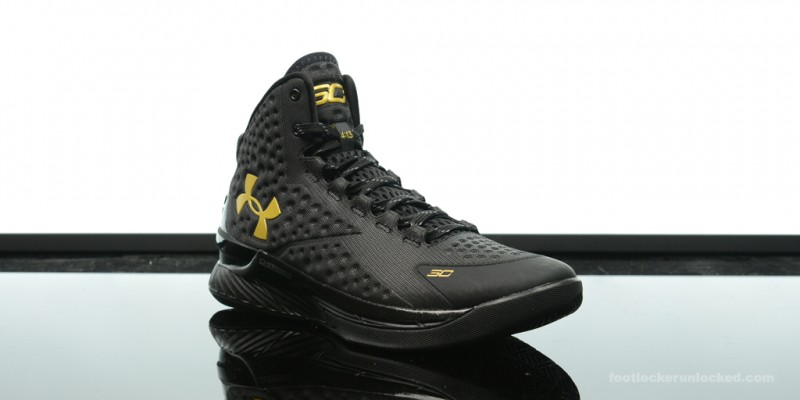 """900abec978463 Foot Locker Exclusive  Under Armour Curry One """"Black   Gold Banner ..."""