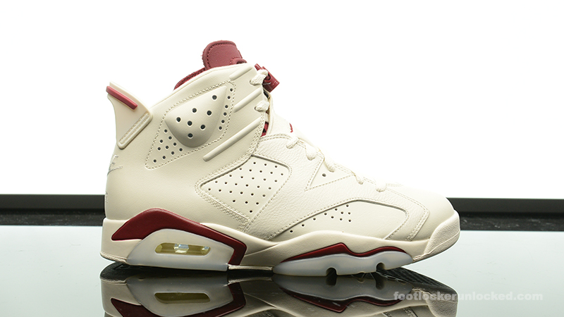 foot locker air jordan 6 maroon originals