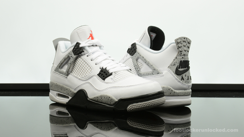 "673fd537e33 Air Jordan 4 Retro ""Cement"". February 12th - Posted By Foot Locker Unlocked"