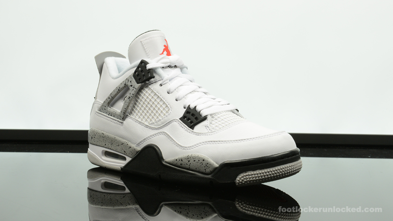 Air Jordan 4 Casier De Pied De Ciment Blanc