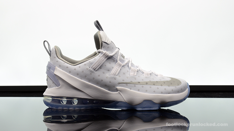 4b00e2bc92f3 Nike LeBron 13 Low White Silver – Foot Locker Blog