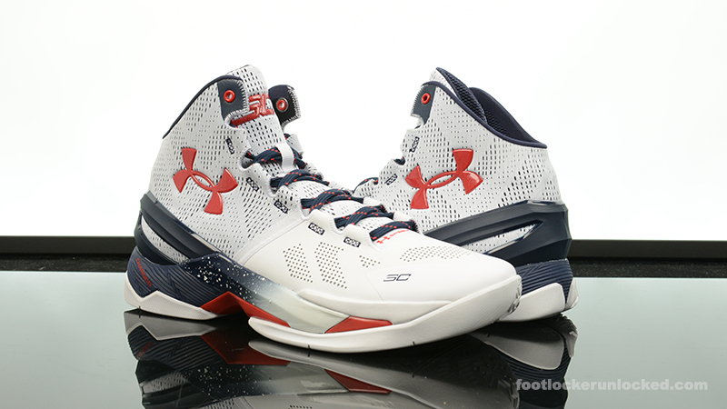 under armour curry 2 white red