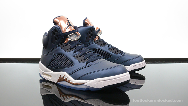 "Air Jordan 5 Retro ""Bronze"". September 23rd - Posted By Foot Locker Unlocked"