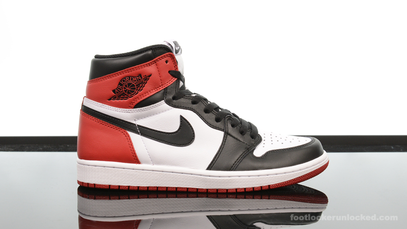 air jordan 1 red and black footlockers