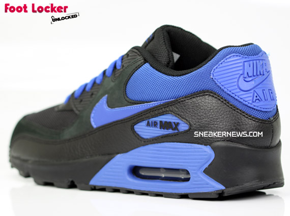 282b72bf7da Nike Air Max 90 – Black   Royal – Foot Locker Blog