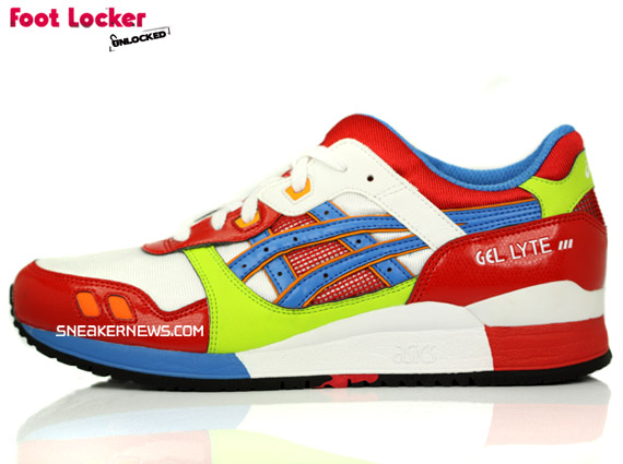 bfe5bb36d7c2 Asics Gel Lyte III – Red   Green   Blue – Foot Locker Blog