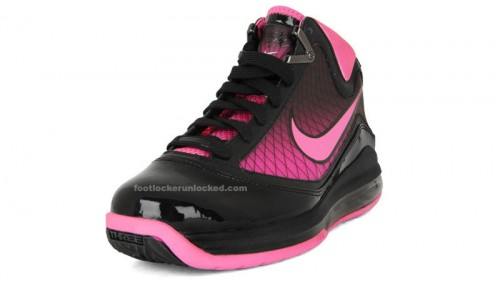 Air Max Lebron VII Pink Fire at Foot Locker in January 38ff18ece