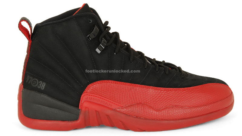 "c7f23f4ae468b Air Jordan XII Black Red ""Flu Game"" Friday"