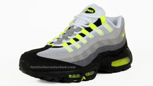 huge selection of 60be0 a7204 Nike Air Max 95 Neon at Foot Locker Saturday 2/27 – Foot ...
