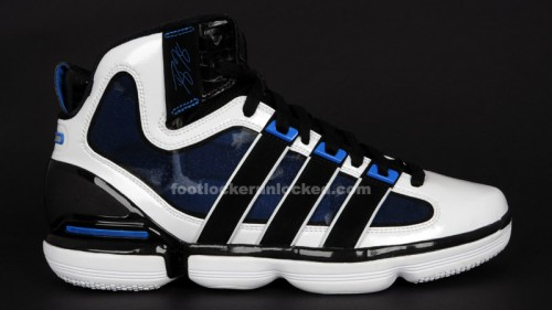 pretty nice ebc26 9cb2a adidas-dwight-howard-beast-bluewhite-1. It drafts closely off his previous  shoe, the TS Supernatural Commander with a bubbly PureMotion outsole and ...