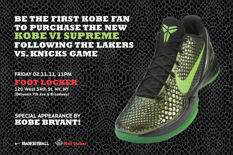 the best attitude 17c3f b2584 Nike Zoom Kobe VI Supreme and Kobe Bryant Appearance – Foot Locker Blog