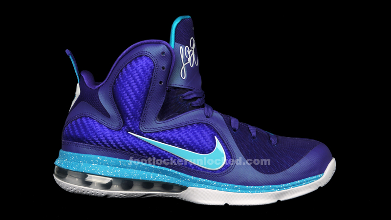 82e392bc586ba ... Nike Lebron 9 Summit Lake Hornets – Foot Locker Blog ...